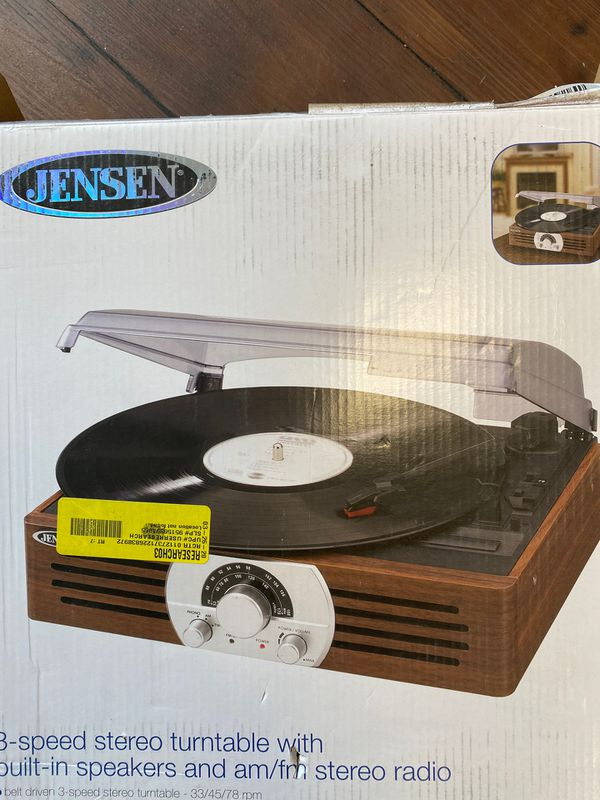 Jensen turntable, new with damage