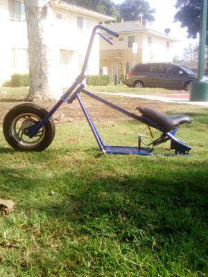 Mini bike Chopper Frame with Front Street Wheel, Harley Davidson Handlebars for Sale in Los Angeles, CA