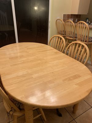 Solid Wood Kitchen Table, Chairs, Barstools and Buffet Table for Sale in Miami, FL