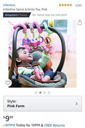 Baby Girl Car Seat Swirly toy for Sale in Glendale, AZ