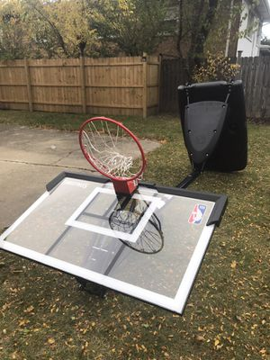 Spalding NBA 54 in Acrylic Portable Basketball Hoop for Sale in Wilmette, IL