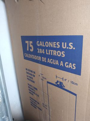 75 GALON GAS WATHER HEATHER for Sale in Las Vegas, NV