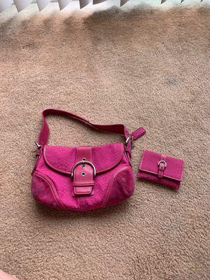 Coach Pink Shoulder Bag & Wallet for Sale in Costa Mesa, CA