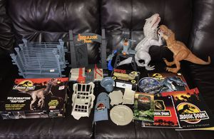Vintage Jurassic Park & Jurassic World Collection Lot - Toy Figure Set Book DVD VHS Model Kit Soap for Sale in Montebello, CA
