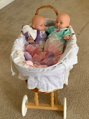 Wicker antique doll carriage for Sale in Greenville, SC