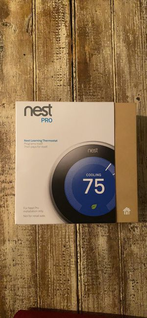 Google, T3008US, Nest learning thermostat, 3rd Gen, smart thermostat pro version, Works with alexa for Sale in Gambrills, MD