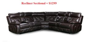 New Brown Leather Recliner Sectional with Storage and Cup Holders for Sale in Austin, TX