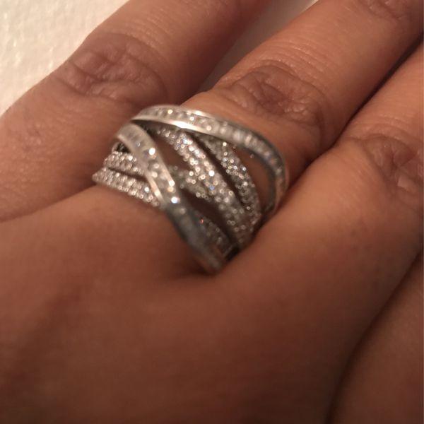 Size 8 CZ Band, 925 Silver