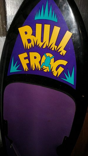 This is a bullfrog deboard probably 4 ft High like new condition couple of scratches line is available life jackets ,water skis ,water toys 2 for Sale in Carteret, NJ