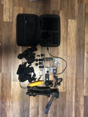 GoPro hero 4 silver with accessories and carrying case for Sale in Glendale, AZ