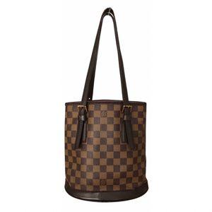 Authentic Louis Vuitton Damier Ebene Marais Bucket Shoulder Tote Bag for Sale in West Covina, CA