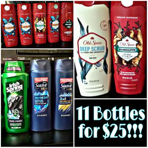 Men's bodywash Old Spice, Suave, and Irish Spring. for Sale in Columbus, OH