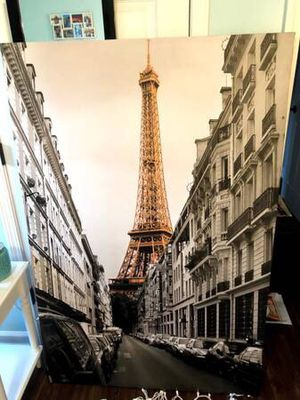 Eiffel Tower Picture on Canvas for Sale in Wendell, NC