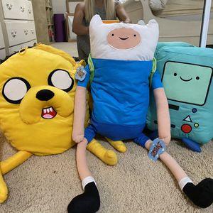 Adventure Time Finn, Jake, BMO Plushy for Sale in Fullerton, CA
