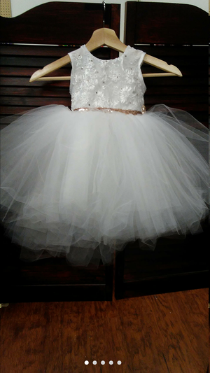 Made-to-order Tutu flower girl dress with sequin bow for Sale in Pittsburgh, PA