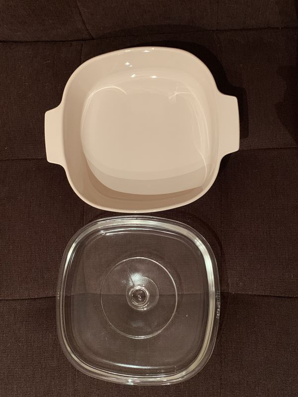 CorningWare Casserole Dish with Pyrex Lid—Forever Yours Pattern