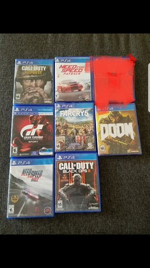 Ps4 games $60 for all for Sale in Fresno, CA