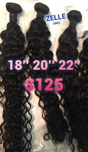 18,20,22'' inch Virgin Brazilian Water Wave Human Hair + 16'' Lace Closure SHIPPING ONLY for Sale in Atlanta, GA