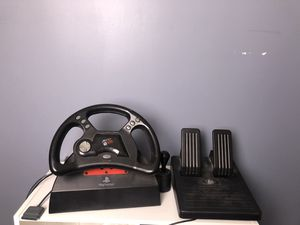 Mad catz steering wheel for PS2 for Sale in Wichita, KS