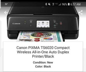 Canon PIXMA TS6020 compact wireless printer for Sale in Traverse City, MI