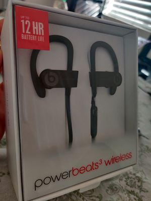 Powerbeats 3 Black, Apple Warranty April 2021 for Sale in Los Angeles, CA