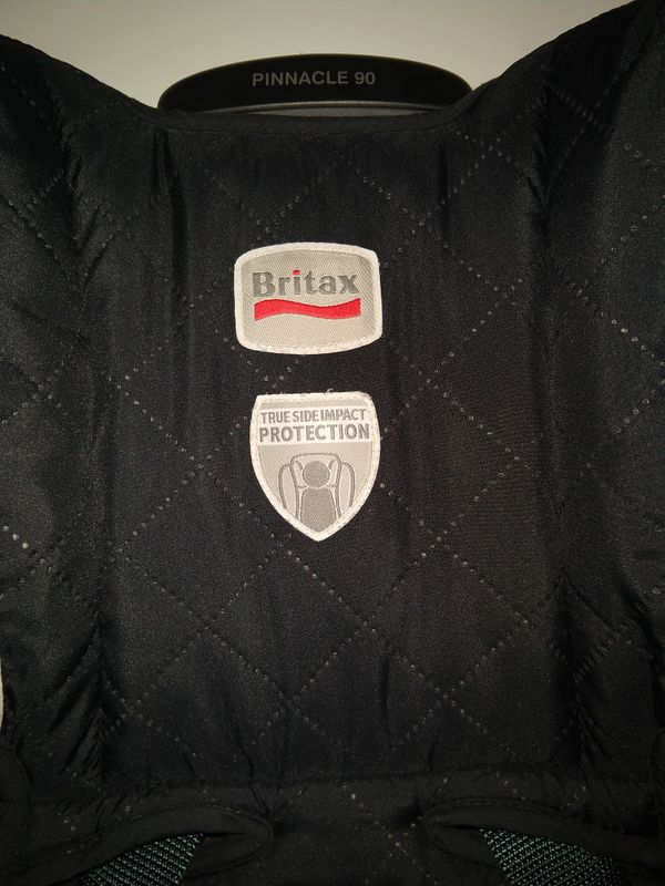 Britax Pinnacle 90 black harness car seat and booster used