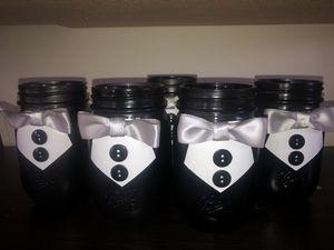 Tuxedo mason jars for Sale in Bellflower, CA