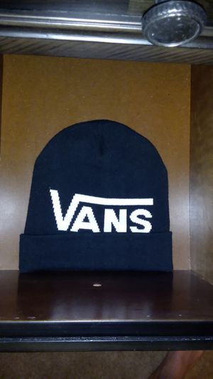 "Vans ""Breaking Curfew"" Beanie (all black with white lettering) for Sale in Colorado Springs, CO"