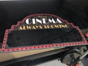 Home theatre decor for Sale in San Antonio, TX