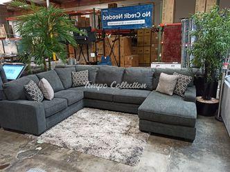 New Sectional Sofa, Dark Grey, SKU# ASH72600RAFTC for Sale in Santa Fe Springs,  CA