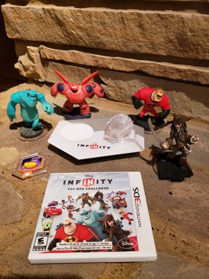 Disney infinity for Nintendo 3DS, plus characters for Sale in Wadsworth, OH