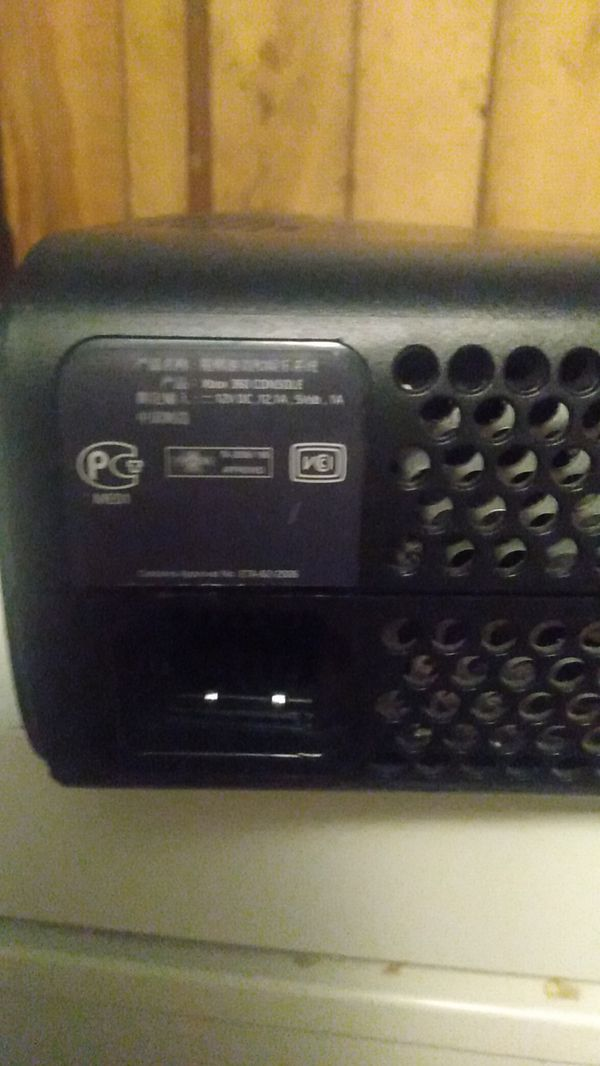 Xbox 360 Console only. no hd. Door sticks. Works