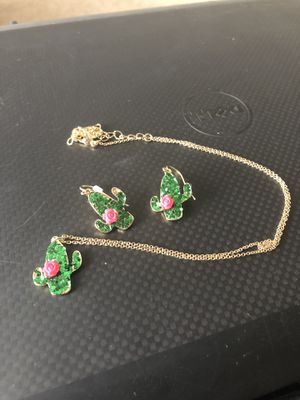 Cactus necklace and earrings for Sale in Inwood, WV