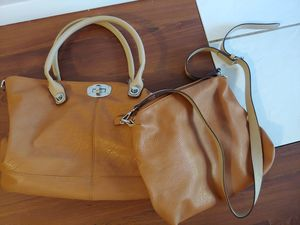 """2-Charming Charlie Purses. Limited wear. Larger purse is 16""""-length x 11""""-height/17.5""""-height with handle. Smaller purse is 10""""-length x 13""""-height. for Sale in Sycamore, IL"""