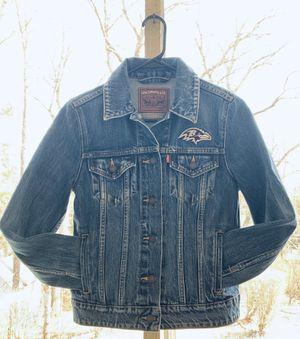 Levi's NFL Baltimore Ravens Denim Trucker Jacket for Sale in Manassas, VA