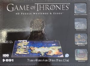 Game Of Thrones 4D Puzzle Westeros & Essos for Sale in Stafford, TX