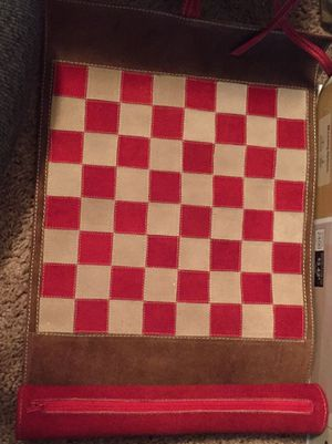 Chess/ Checkers leather travel set for Sale in Alafaya, FL
