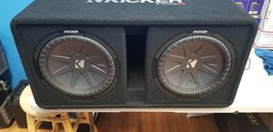 "Kicker CompR Dual 12"" subwoofer with enclosure. 2000 watts! Works great for Sale in Philadelphia, PA"