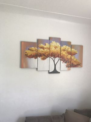 Multi panel canvas wall art frame for Sale in Dearborn, MI