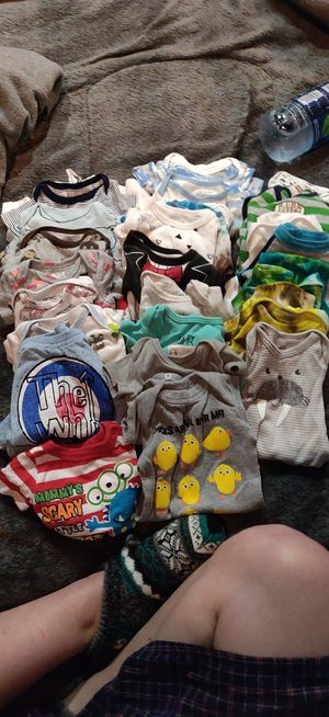 Newborn boy clothes & diapers +extras for Sale in Tacoma, WA