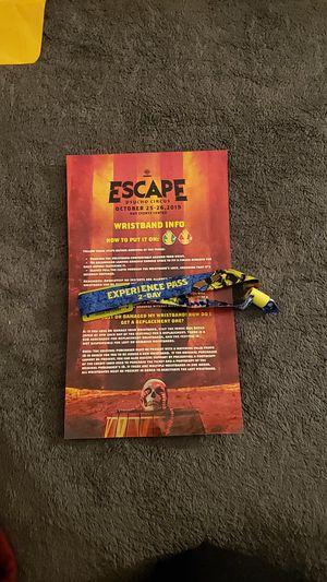 Escape Psycho Circus 2-Day GA Wristband for Sale in Wildomar, CA