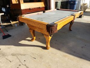Pool table-8ft three piece slate for Sale in Tulare, CA