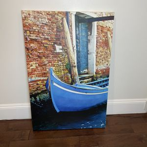 Large canvas photograph Of Gondola In Venice Italy, Not A Stock Image for Sale in Tustin, CA