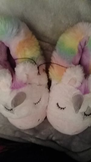 Unicorn. Slippers. Women's size 9/10. $5. NEW. for Sale in PA, US