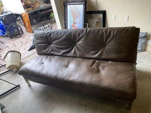Leather futon like new for Sale in Miami, FL