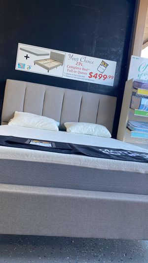 Queen Size Bed Set Brand New Cooling Gel Memory Foam Mattress And Bed Frame Set all brand new in the box for Sale in Imperial Beach, CA