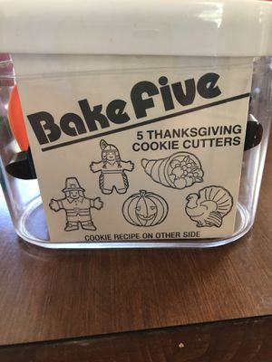 Thanksgiving cookie cutter set for Sale in Denver, CO