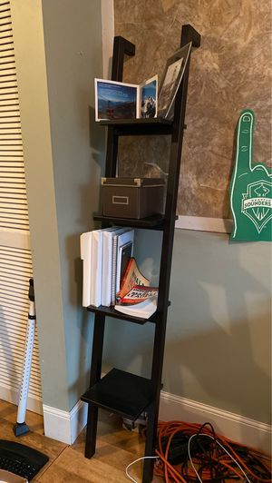 Set of Two - IKEA Black Ladder Style Shelves for Sale in Bothell, WA