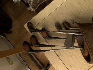 Vintage golf clubs, Robert Jones Jr. Spaulding for Sale in Western Springs, IL