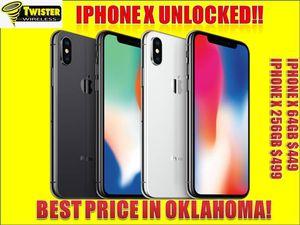 IPHONE X on sale ! UNLOCKED ( GUARANTEED IMEI) for Sale in Tulsa, OK